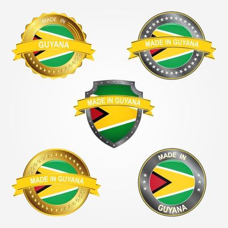 Design label of made in Guyana