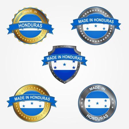 Design label of made in Honduras  イラスト・ベクター素材