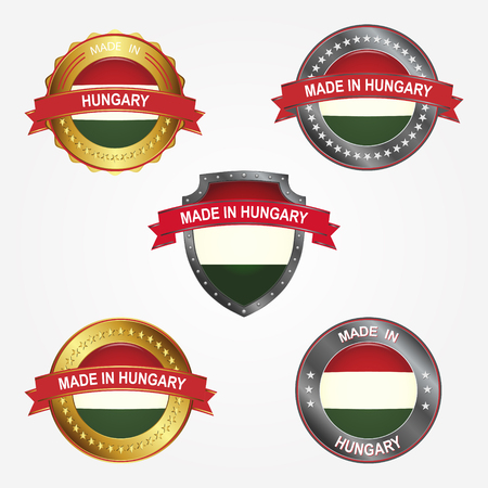 Design label of made in Hungary