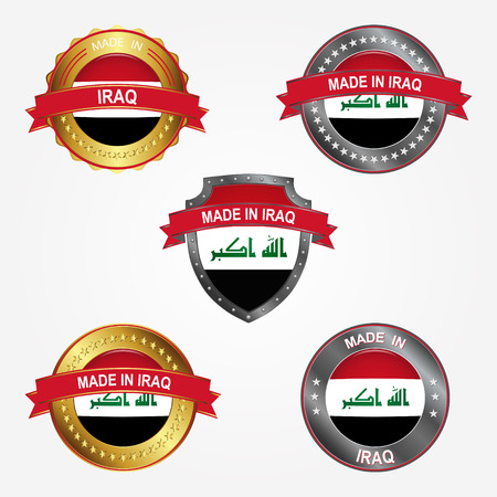 Design label of made in Iraq