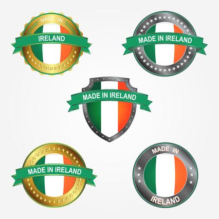 Design label of made in Ireland  イラスト・ベクター素材