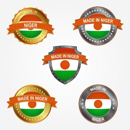 Design label of made in Niger  イラスト・ベクター素材