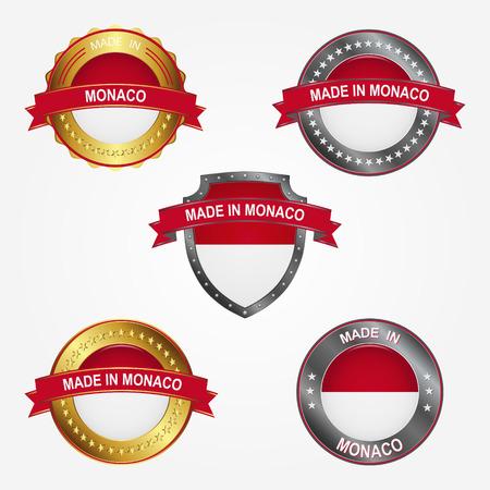 Design label of made in Monaco  イラスト・ベクター素材