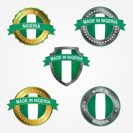 Design label of made in Nigeria Illustration