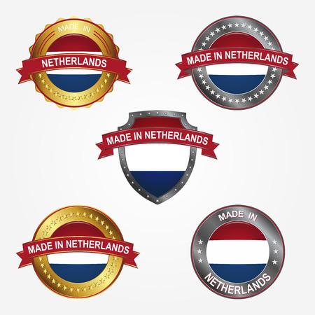 Design label of made in Netherlands