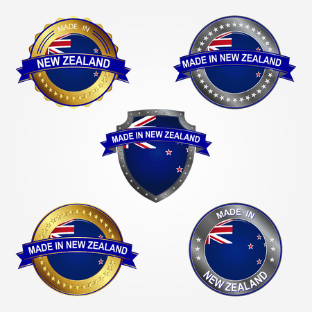 Design label of made in New Zealand