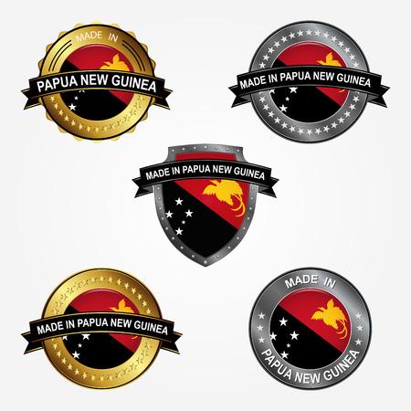 Design label of made in Papua New Guinea