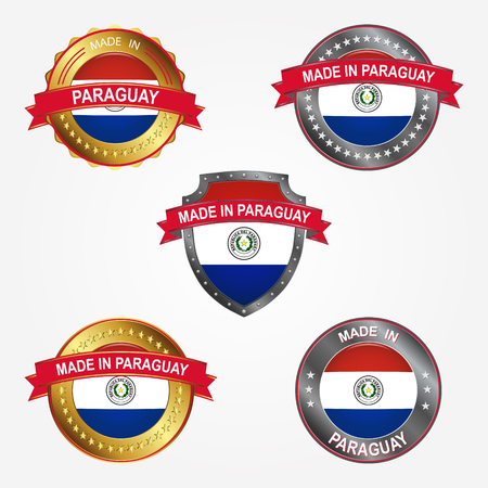 Design label of made in Paraguay