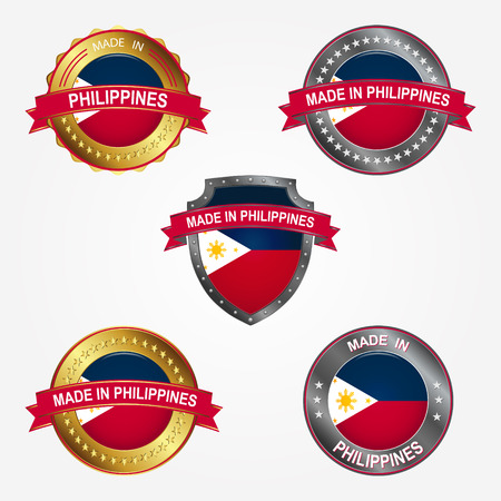 Design label of made in Philippines