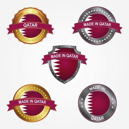 Design label of made in Qatar