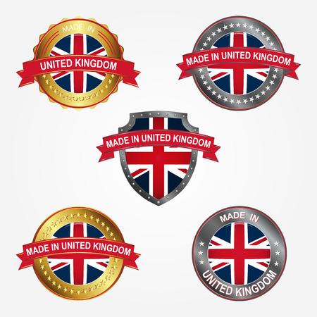 Design label of made in United Kingdom