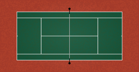 A textured realistic tennis court illustration. Vector EPS 10.