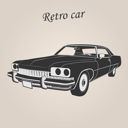Vintage car. Retro car. Classic car Illustration