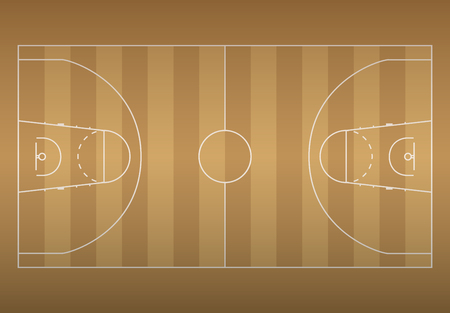 Basketball court on top. Vector EPS10 illustration