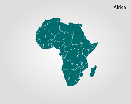 Map of Africa. Vector illustration