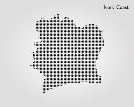 Map of Ivory Coast. Vector illustration