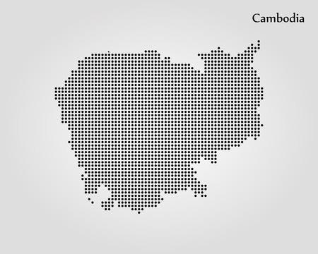 Map of Cambodia. Vector illustration Ilustração