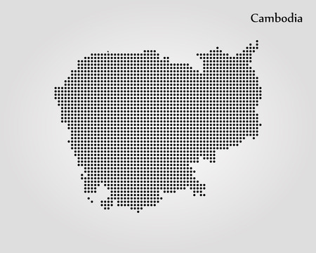 Map of Cambodia. Vector illustration Illustration