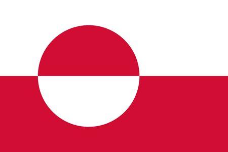 Flag of Greenland. Vector illustration