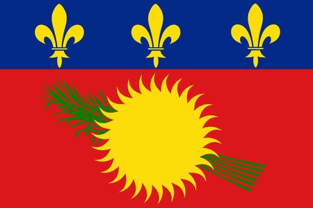 Flag of Guadeloupe. Vector illustration