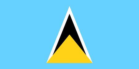 Flag of Saint Lucia. Vector illustration