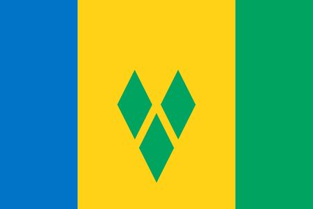 Flag of Saint Vincent and the Grenadines. Vector illustration