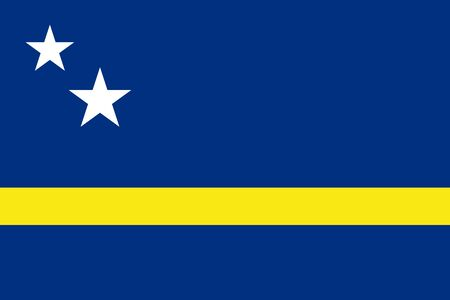 Flag of Curacao. Vector illustration