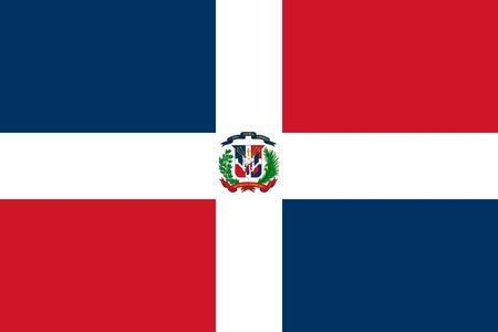 Dominican Republic flag. Vector illustration