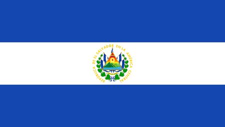 Flag of El Salvador. Vector illustration