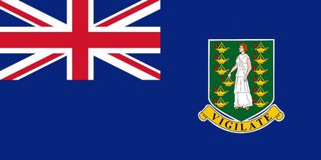 Flag of the British Virgin Islands. Vector illustration