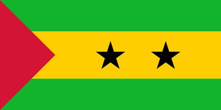 Flag of Sao Tome and Principe. Vector illustration Illustration