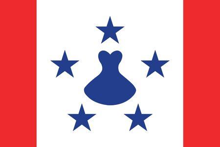 Flag of the Austral Islands. Vector illustration  イラスト・ベクター素材