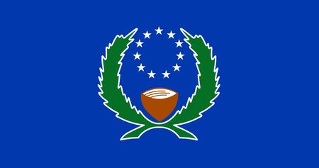 Flag of the Federated States of Micronesia. Vector illustration