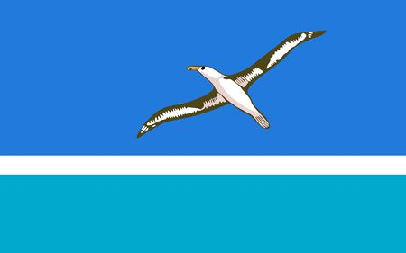 Flag of the Midway Islands. Vector illustration
