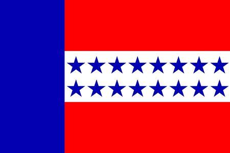Flag of the Tuamotu Islands. Vector illustration
