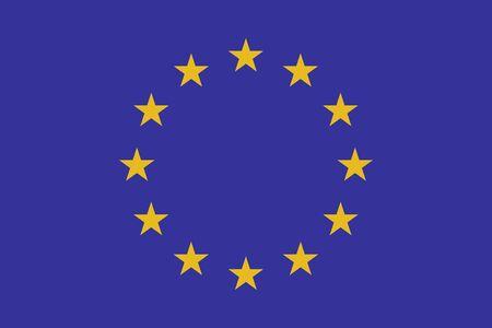 Flag of Europe. Vector illustration