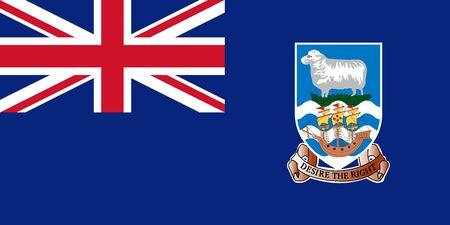 Flag of the Falkland Islands. Vector illustration