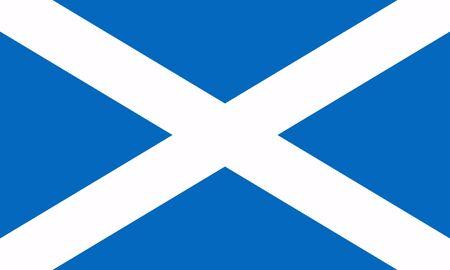 Flagge von Schottland. Vektor-Illustration
