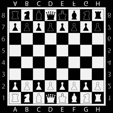 Chess Table online game app concept, strategy game Vector Vector Illustratie