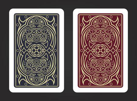 Die Rückseite einer Spielkarte