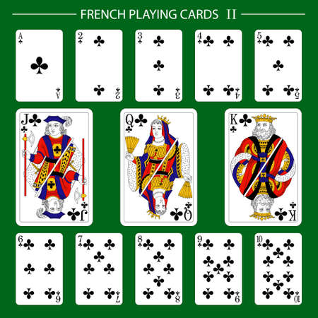 French playing cards suit clubs Vektorové ilustrace