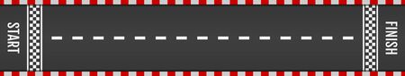 Asphalt for drive. Tarmac roadway with red grid texture border for sport competition. Automobile road for car