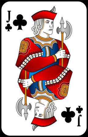 Poker playing card queen spades. New design of playing cards.