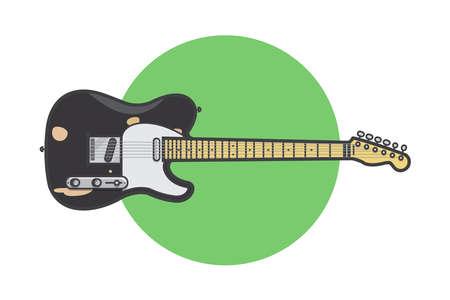 electric guitar vector illustration design source Illustration