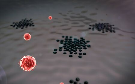 lymphocyte, Phagocyte, Fagocytosis, lymphocyte, autoimmune disease, Macrophage, Macrophage attack of the Beta cells Stock Photo