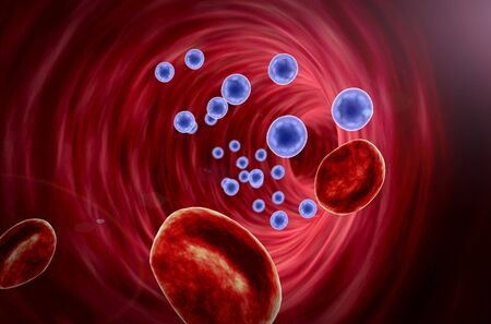 Viruses on the erythrocytes, Erythrocytes and viruses in the blood