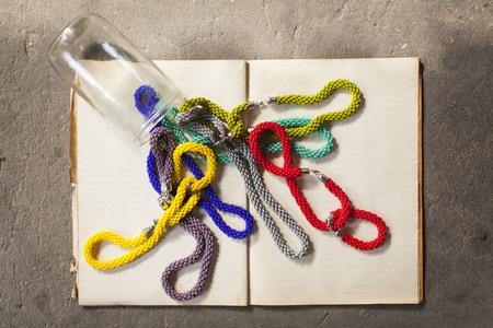 jewelery: Colorful jewelery Stock Photo