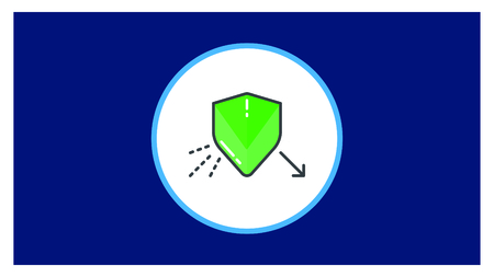 Security icon in flat style isolated on white background.