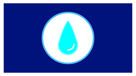 water icon in trendy flat style isolated on blue background.
