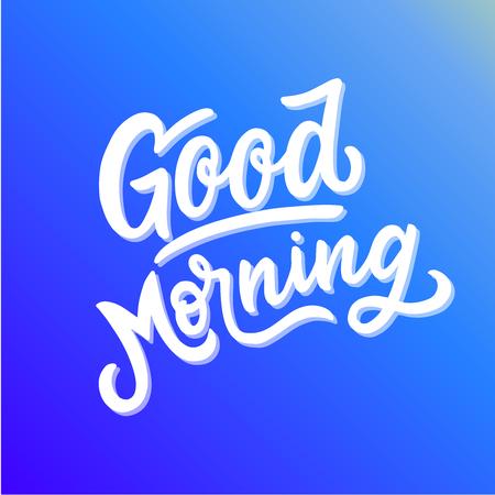 Inspirerende motivatiecitaat goedemorgen Vector Illustratie